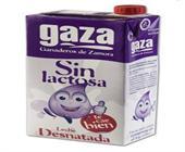 LECHE GAZA SIN LACTOSA DESNATADA 1 LITRO