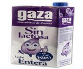 LECHE GAZA SIN LACTOSA ENTERA 1 LITRO