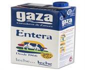 LECHE GAZA ENTERA 1 LITRO