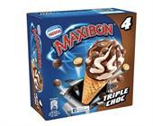 CONO MAXIBON TRIPLE CHOC X4 PACK 6