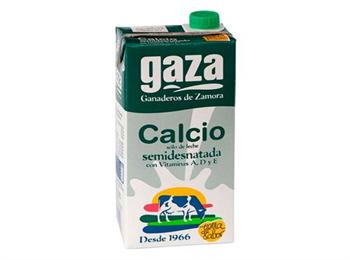 LECHE GAZA CALCIO SEMIDESNATADA----------