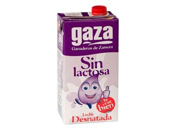 LECHE GAZA SIN LACT DESNATADA-------