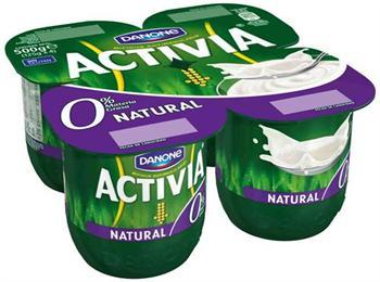 ACTIVIA 0% NATURAL  X4 DANONE