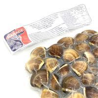 Almeja del pacifico extra entera cocida 40/60 1 kg Rabade.