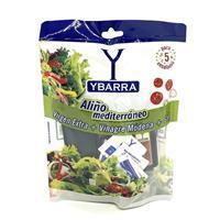 Blister Aceite Virgen Extra + Vinagre de Modena + Sal para 5 ensaladas YBARRA.