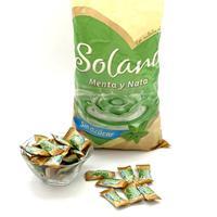 Caramelo Solano menta y nata sin azucar 900 gramos.