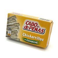 Chicharrillos en escabeche en aceite de Girasol 85 gramos Cabo de Peñas.