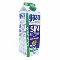 Leche Semidesnatada Sin Lactosa 1 litro Gaza.
