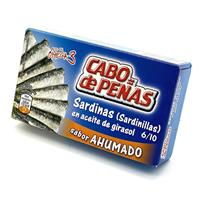 Sardinillas en Aceite de Girasol (Ahumadas) 85 gramos Cabo de Peñas.