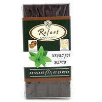 Tableta chocolate negro 70 % con menta