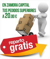 En Zamora capital, tus pedidos superior a 20 euros. Reparto Gratis